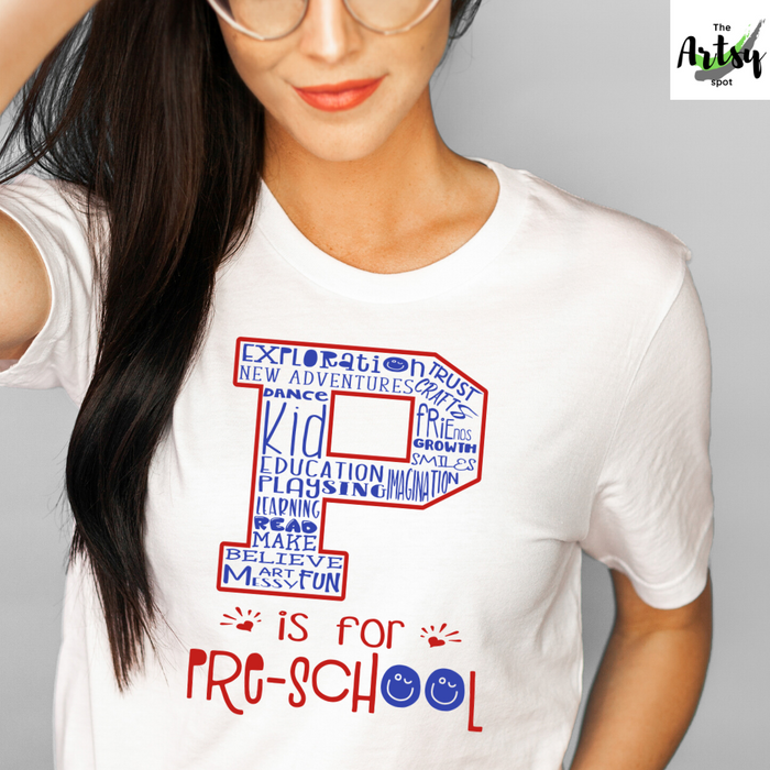 P is for Preschool shirt