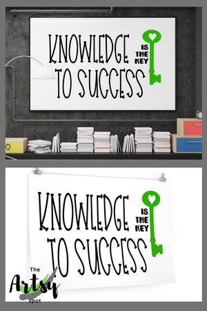 Knowledge is the Key to Success, Poster, Pinterest image