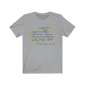Waymaker shirt, Waymaker song lyrics shirt, Waymaker Miracle Worker, Promise Keeper...Faith based apparel