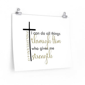 Philippians 4:13 wall art print, I can do all things through Christ poster