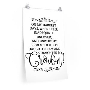 On my darkest Days Wall Print, Christian girls bedroom decor