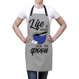 Life is short Lick the spoon Apron, Apron gift for someone who loves to cook