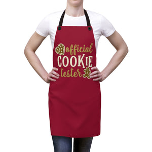Official Cookie Tester apron, Christmas apron, Christmas cookie apron, Christmas gift for mom