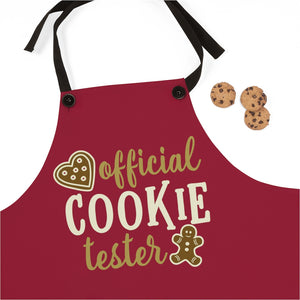 Official Cookie Tester apron, Christmas apron, Christmas cookie apron, Christmas cookie exchange