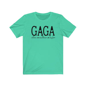Personalized Gaga shirt with grandkid's names, Gift for Gaga, Custom Grandma shirt