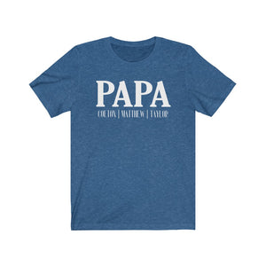 Personalized Papa shirt with kid's names, Father's day gift for Papa