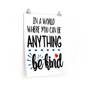 Be kind poster, Motivational poster for school wall decor, kindness poster