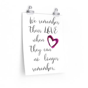 Alzheimer's sayings poster, The Artsy Spot