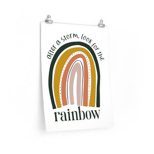 bedroom rainbow wall decor, rainbow poster for office, rainbow sayings print