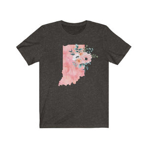 Indiana home state shirt, Watercolor Indiana shirt, Indiana state shirt, black heather