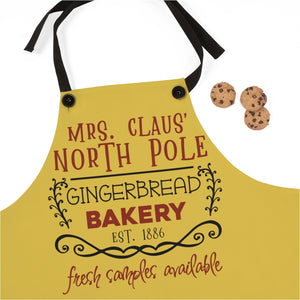 Mrs. Claus' North Pole Gingerbread Bakery. Est. 1886 Fresh Samples Available, Christmas Apron for a christmas gift for mom