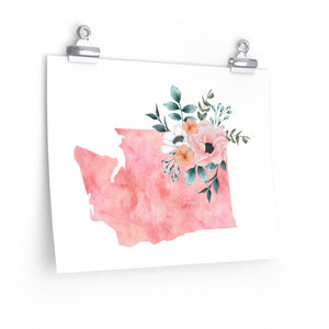 Washington home state poster, Washington watercolor, Washington wall art print