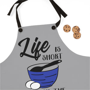 Life is short Lick the spoon Apron, funny Apron gift for mom, Christmas gift for a baker