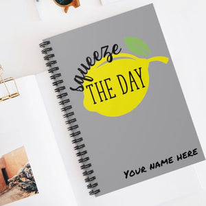 Squeeze the Day Journal, Notebook personalized with name, bible study journal, lined journal, desk planner, motivational journal