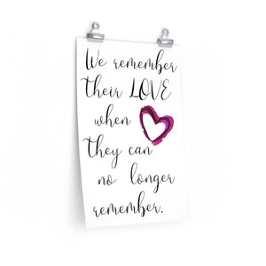 Alzheimer's wall art print, The Artsy Spot