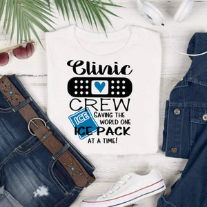 Funny Clinic Crew shirt - The Artsy Spot