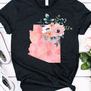 Arizona Home state shirt, Arizona watercolor shirt, Arizona state shirt, women's Arizona shirt