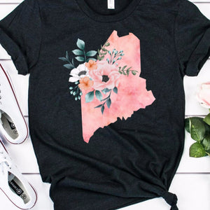 Maine home state shirt, Maine gift, Maine state shirt, watercolor state shirt