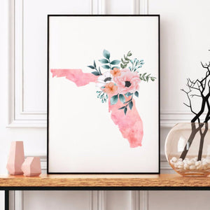 Florida Home State Print - The Artsy Spot