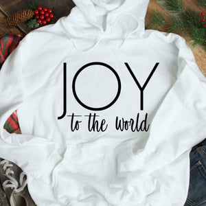 Joy to the World sweatshirt, JOY Hoodie, Christmas hoodie