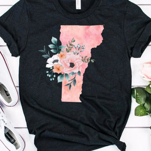 Vermont home state shirt, Vermont gift, Vermont state shirt, watercolor state shirt