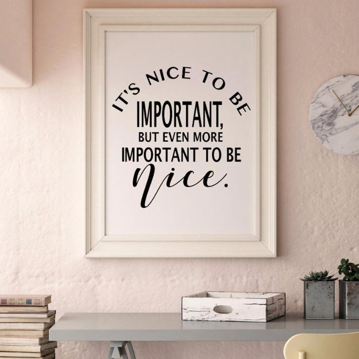 It's Important to be Nice, poster