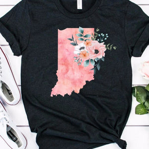 Indiana home state shirt, Watercolor Indiana shirt, Indiana state shirt
