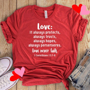The Love Chapter Shirt, Valentine's Day shirt,  Red Love shirt, Love is patient, love is kind shirt