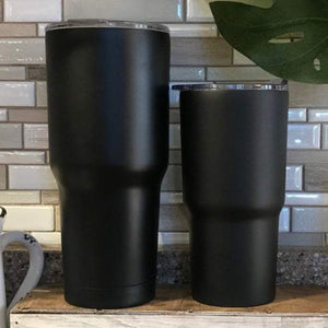 Black tumblers for the basketball tumbler design - The Artsy Spot
