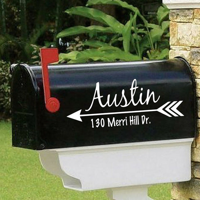 Mailbox Decal With Address