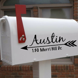 Mailbox decal, Mailbox address decal, trendy arrow design mailbox address