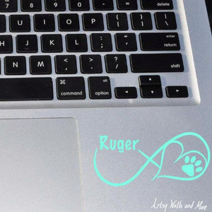 Dog Name Infinity Decal - The Artsy Spot
