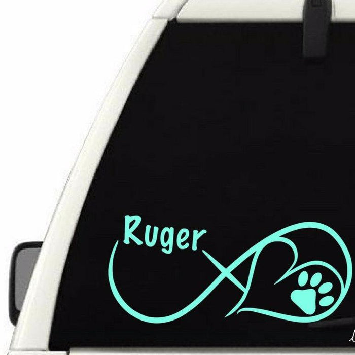 Dog Name Infinity Decal