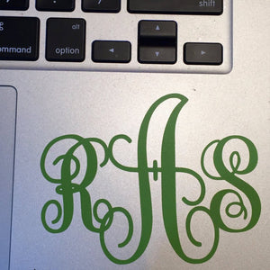 Yeti Cup Personalized monogram Decal, tumbler monogram decals, car window monogram