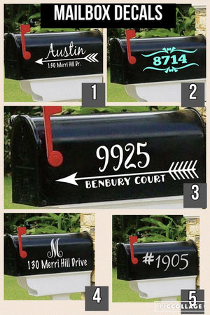 Mailbox decal style choices