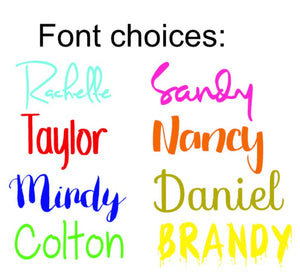 Custom NAME Decals for Tumblers - The Artsy Spot