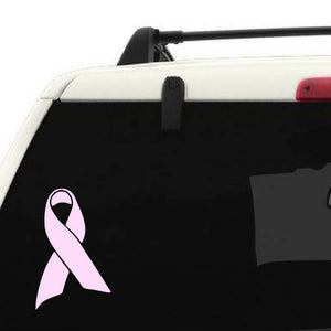 Pink ribbon decal, Pink ribbon car window decal personalized with name