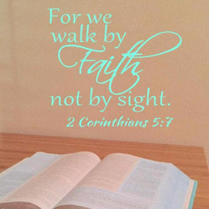 For We Walk By Faith and Not By Sight 2 Corinthians 5:7 - The Artsy Spot