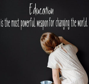 Education is the Most Powerful Weapon, Nelson Mandela Quote - The Artsy Spot