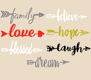Arrow Wall Decals, Arrows With Words - The Artsy Spot
