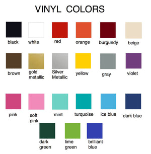 Vinyl Color Chart - The Artsy Spot