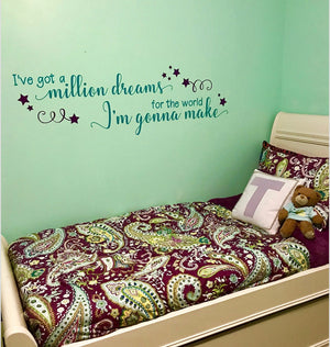 Million Dreams, Greatest Showman theme bedroom, music room, girl's bedroom