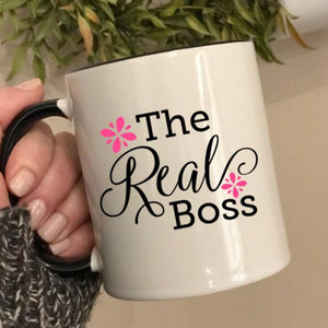 The Real Boss mug, Funny gift for Administrative Professional's Day