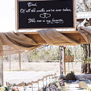 Dad of All the Walks We've Ever Taken, Wedding Decal - The Artsy Spot