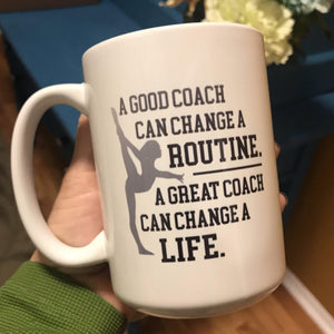 Gymnastics Coach gift, Gymnastics Coach quote coffee mug - The Artsy Spot
