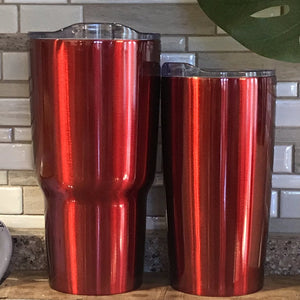 Red tumblers for the basketball tumbler design - The Artsy Spot