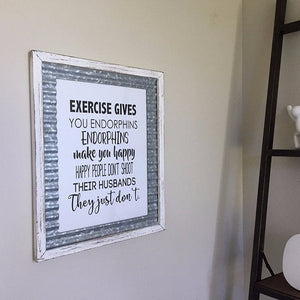 Exercise Gives You Endorphins - Legally Blonde Quote Print - The Artsy Spot