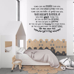 Be the Nice Kid wall decal - The Artsy Spot