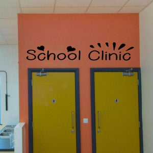 School Clinic decal for a Nurse's office, decal for a school nurse clinic