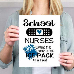 School Nurses saying on a wall art print, School nurse gift, School nurse appreciation gift
